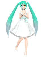DTExtend White Eve Miku - Finished by Norumo