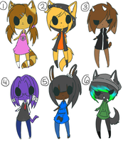 Free Adoptables 11*CLOSED* by ookami8118
