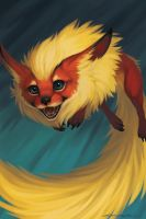 Eeveelutions - Flareon by Evelar