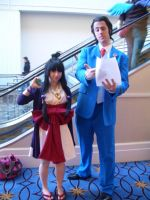 Ace Attorney And Loving Assistant by StealthNinja5