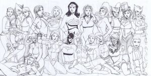 DC Women sketch by wrathofkhan
