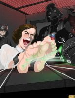 Princess Leia Tickled by EyeDraw78