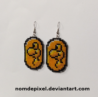 Dragon Coin Earrings by NomDePixel