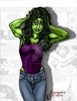 She-Hulk Bed Head by THE-Darcsyde