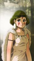 Princess Mononoke by cury