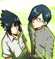 Sasuke and Ishida by msloveless