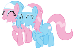 Happy Spa Ponies - Aloe and Lotus together by FluttershyElsa