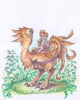 Potoo Chocobo by drachenmagier