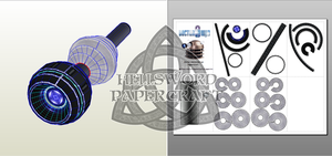 Doctor Who Dalek Eye Papercraft by HellswordPapercraft