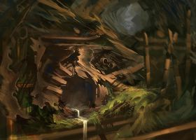 Sewer Entrance by AdamPaquette