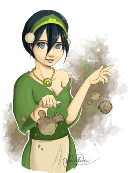 Toph by Curly-Qs