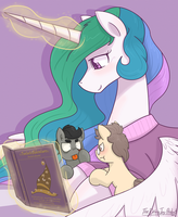 Story-time with Celestia by TheDracoJayProduct