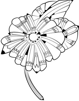Pencil Flower by Miss-Ag