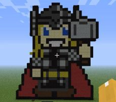 Minecraft Thor by Snow-Feather1203