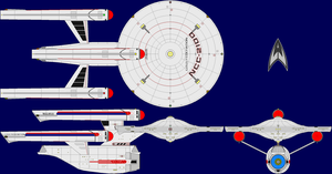 USS Fed. AU TOS Multi-View by captshade