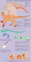 Gemhorn Dragon Species Ref by armaina