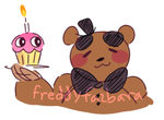 freddy with a cupcake by dongoverload