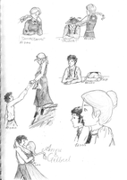 Anne of Green Gables Sketches by thestoryweaver