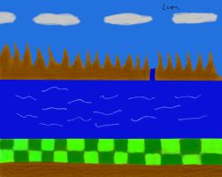 Green Hill zone wallpaper by Lumios-deviantart