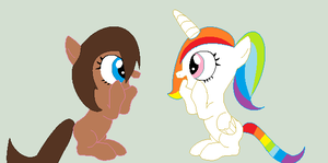 me and gab as fily's by EmilyPuppy1