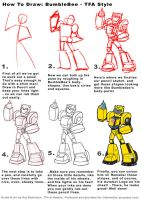 KIDS How to Draw TFA Bumblebee by Kat-Nicholson