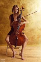 She and her cello by DmitryElizarov
