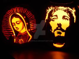 Halloween 2015 Pumpkins by Theophilia
