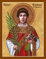 St. Stephen the Protomartyr icon by Theophilia
