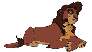TLK base 47 (with a cub) by BlackArtKitty