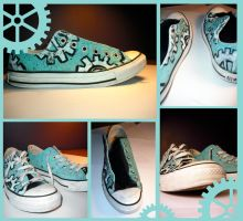 Painted Shoes by Dil3mma
