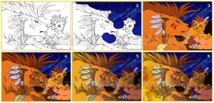 Four Feathers - Step by step by Nakuru-Nebelung
