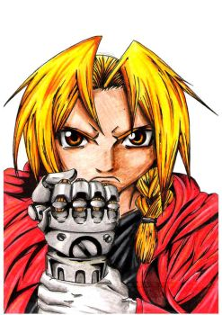 Edward Elric - Finished by Blaz1ng-Note