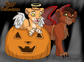 Kiara and Kovu Halloween by kookybat