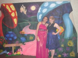 Alice in Wonderland Backdrop by PrincessMalon