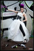 Punky Grafitti Bride 4 by JenHell66
