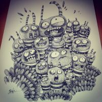 My drawing for exhibition by sa9rapurin
