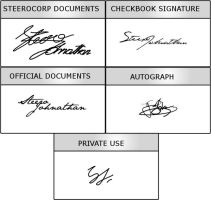 Steero's signatures by zephrania