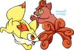 Ring of Fire Foxes by waveguidemarshtomp