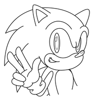 Sonic Anniversary uncolored by sonictopfan