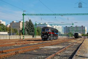 659 001-5 with a special train in Gyor on 2013 -2 by morpheus880223
