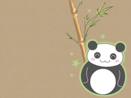 Panda Wallpaper by FraeuleinAbart