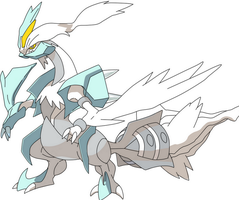 White Kyurem Anime Unofficial Artwork by HeartPM