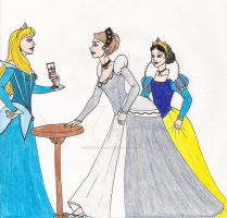 Disney Princesses of Old by 13foxywolf666