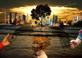 World Peace in Surrealism by reubenteo