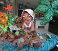 Celebrate Natalie's 50th! Polymer Clay sculpture by abergiecreation
