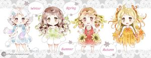 .6$ Adoptables (Seasons-girls) - CLOSED. by Hetiru