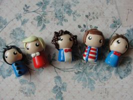Cute Clay One Direction Charms by CraftyOlivia