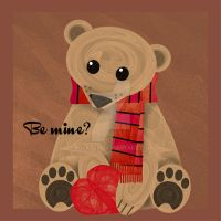 Valentine bear by rockgem