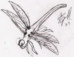 Dragonfly - Sketch by Dragon2009