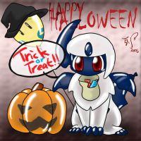 Halloween Absol by Wingfox